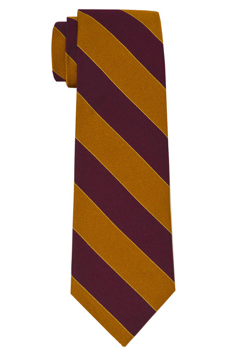 Murray Striped Tie Rust