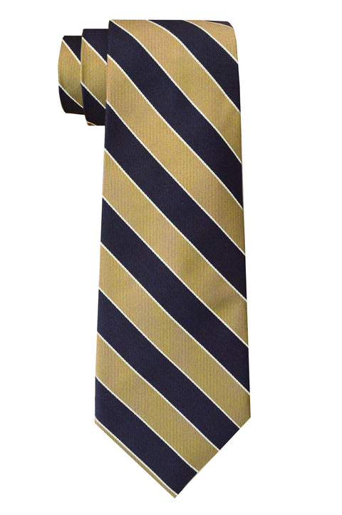 Sherman Striped Tie Gold