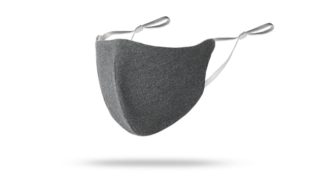 Black/Grey Solid Face Mask