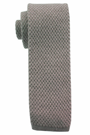 Wool Knit Ties Gray