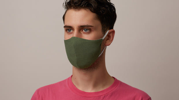 Green Solid Face Mask