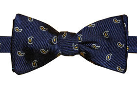 Mercer Navy Pines Bow Tie
