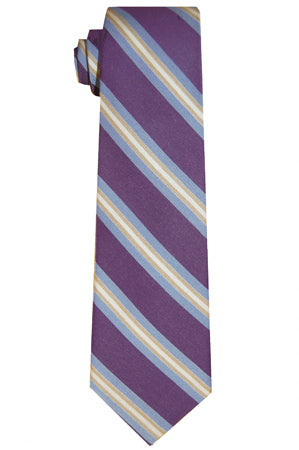 Spruce Purple Striped Tie