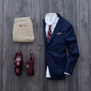 Crosby Stripe Tie Burgundy