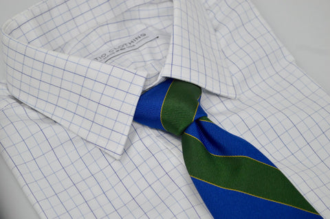 Murray Striped Tie Green