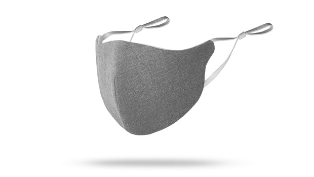 Light Grey Solid Face Mask