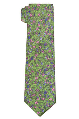 Marion Floral Green Tie