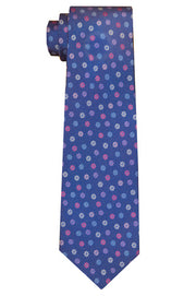 Irving Flower blue Tie