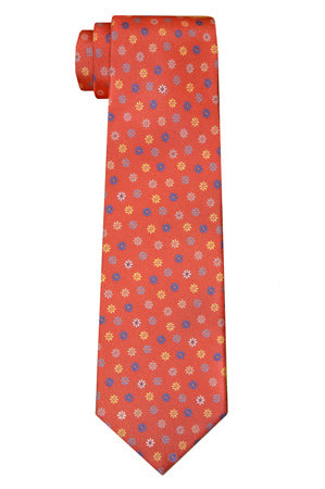 Irving Flower Orange Tie