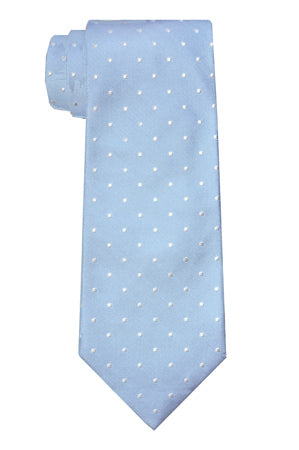 Ross Dot Light Blue Tie