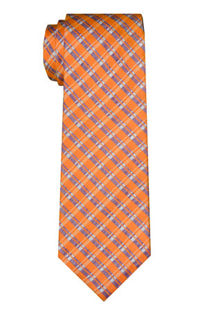 Ryerson Plaid Orange Tie