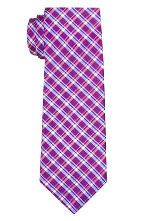 Ryerson Plaid Berry Tie
