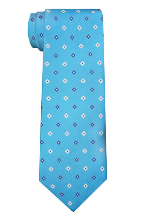 Morris Diamond Tie Teal