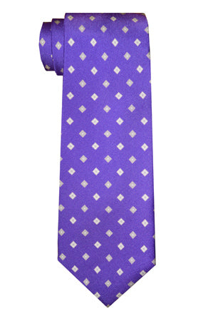 Morris Diamond Tie Purple