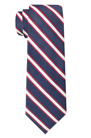 Bennett Stripe Tie Red