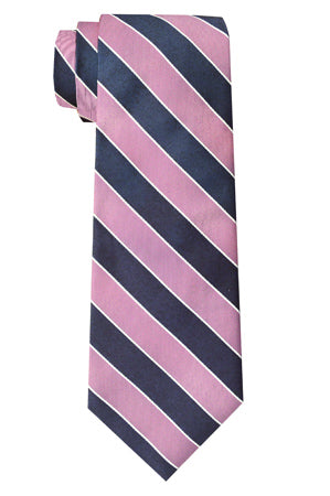 Sherman Striped Tie Pink