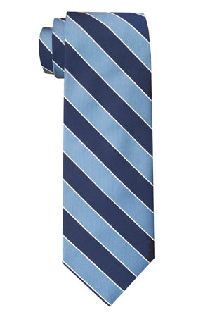 Sherman Striped Tie Blue