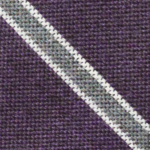 Thayer Striped Tie Purple