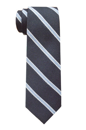Thayer Striped Tie Navy