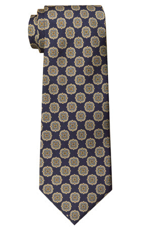Perry Geometric Tie Navy