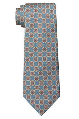 Perry Geometric Tie Blue