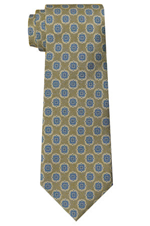 Perry Geometric Tie Olive