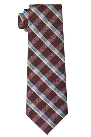 Fulton Plaid Tie Wine