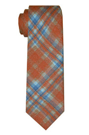 Sutton Plaid Tie Sienna