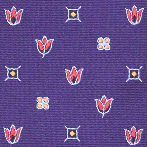 Harrow Flower Tie Purple