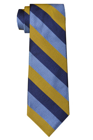Borden Stripe Tie Yellow/Blue