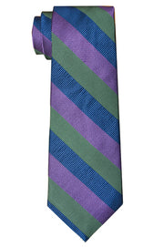 Borden Stripe Tie Green/Purple
