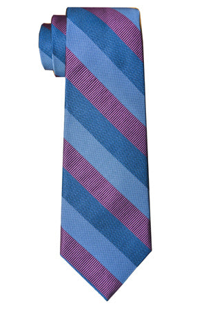 Borden Stripe Tie Magenta/Blue