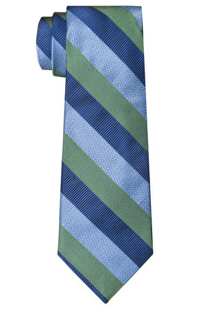 Borden Stripe Tie Green/Blue