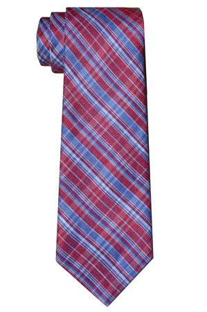 Jackson Plaid Tie Red