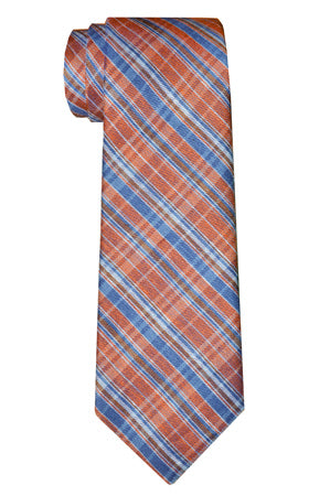 Jackson Plaid Tie Orange
