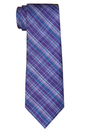 Jackson Plaid Tie Purple