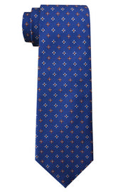 Ingram Foulard Tie Navy/Orange
