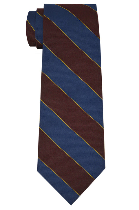 Murray Striped Tie Brown