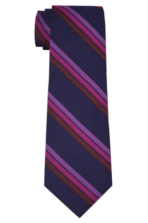 Vesey Striped Tie Navy/Pink
