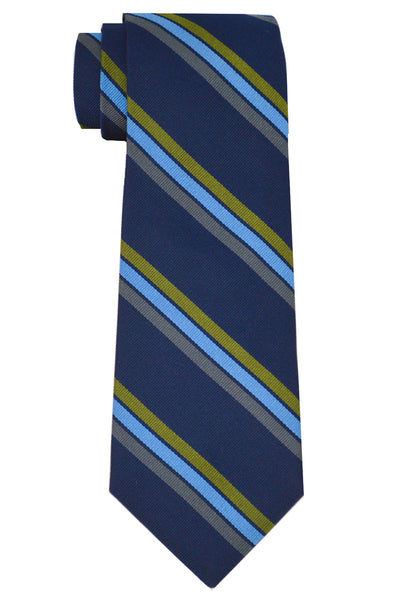 Vesey Striped Tie Navy/Blue
