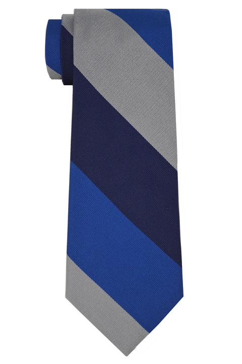 Harrison Striped Tie Gray