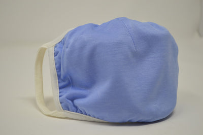 Blue Solid Reusable Face Mask (3 Pack)