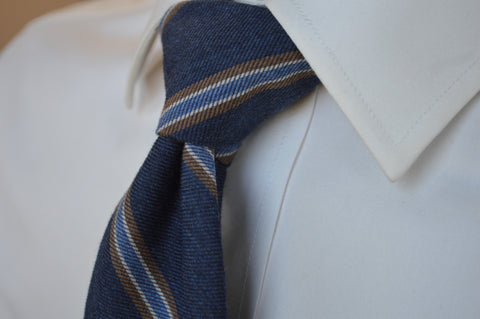 Crosby Striped Tie Navy