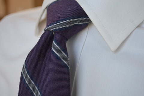 Crosby Stripe Tie Purple