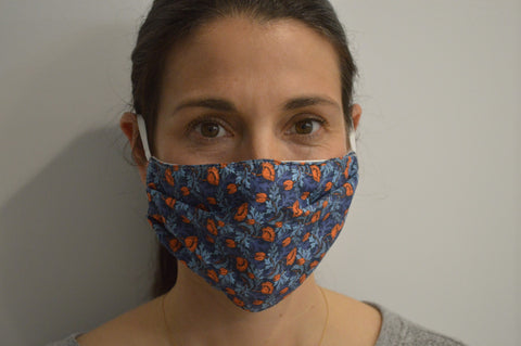 Plume Poppy Reusable Face Mask With Elastic Straps