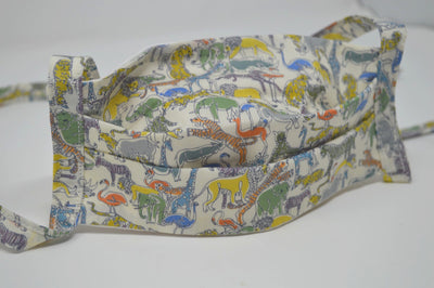 Safari Reusable Face Mask With Cotton Fabric Straps
