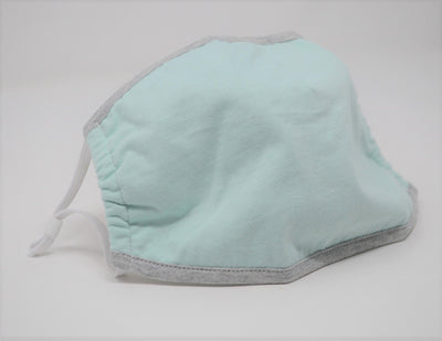 Aqua Solid Reusable Face Mask With Elastic Straps