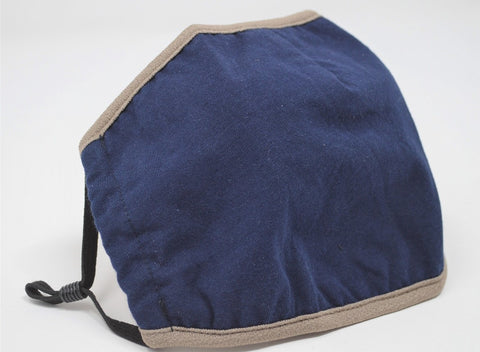 Navy Solid Reusable Face Mask With Elastic Straps