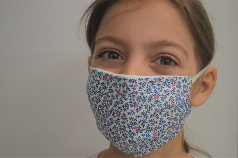 Kids Willow Reusable Face Mask With Elastic Straps
