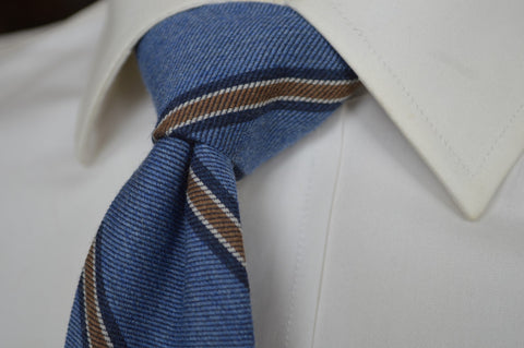 Crosby Stripe Tie Blue